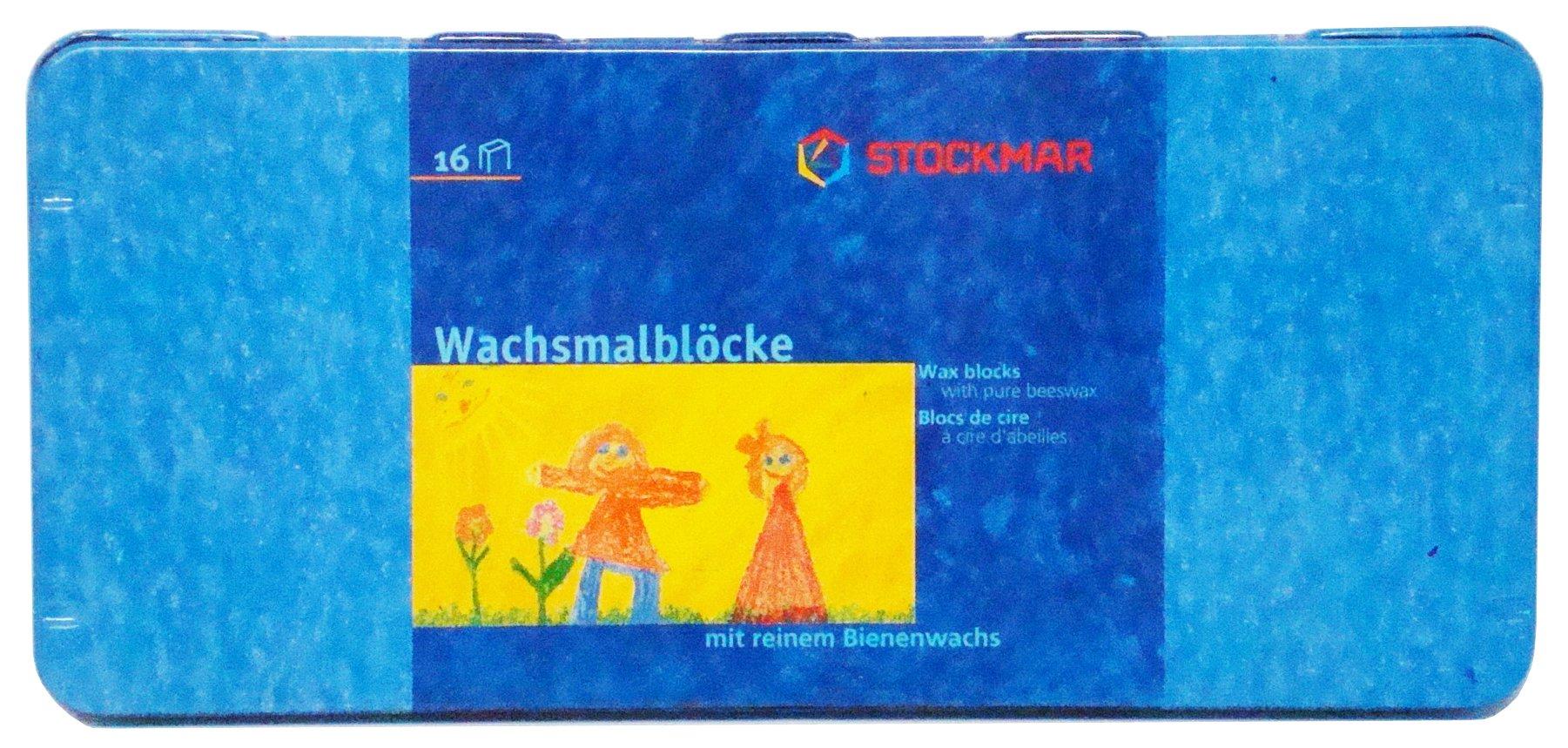 Stockmar Beeswax Block Crayons, Set of 16