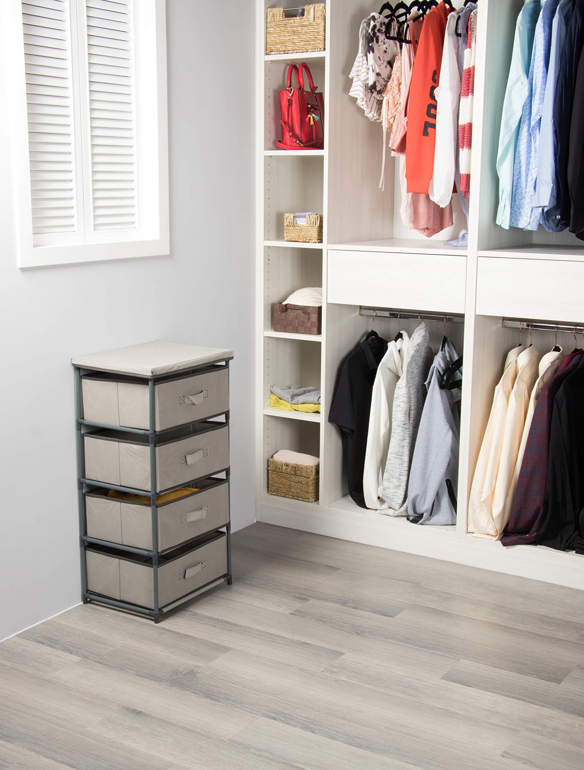 4-Tier Dresser Drawer Organizer