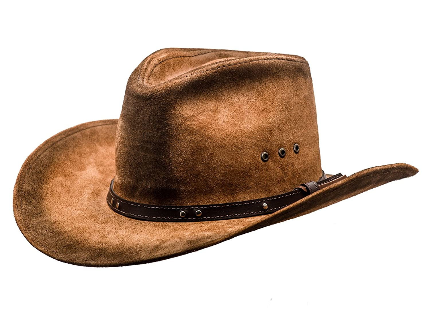 7581002c14a Sterkowski Cattle Leather Classic Western Cowboy Outback Hat at Amazon  Men s Clothing store