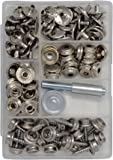 Canvas and Upholstery Boat Cover Snap Button Fastener Kit w/ Installation Tool - 101 Pieces