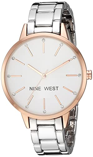 Buy Nine West Women S Crystal Accented Rose Gold Tone And Silver