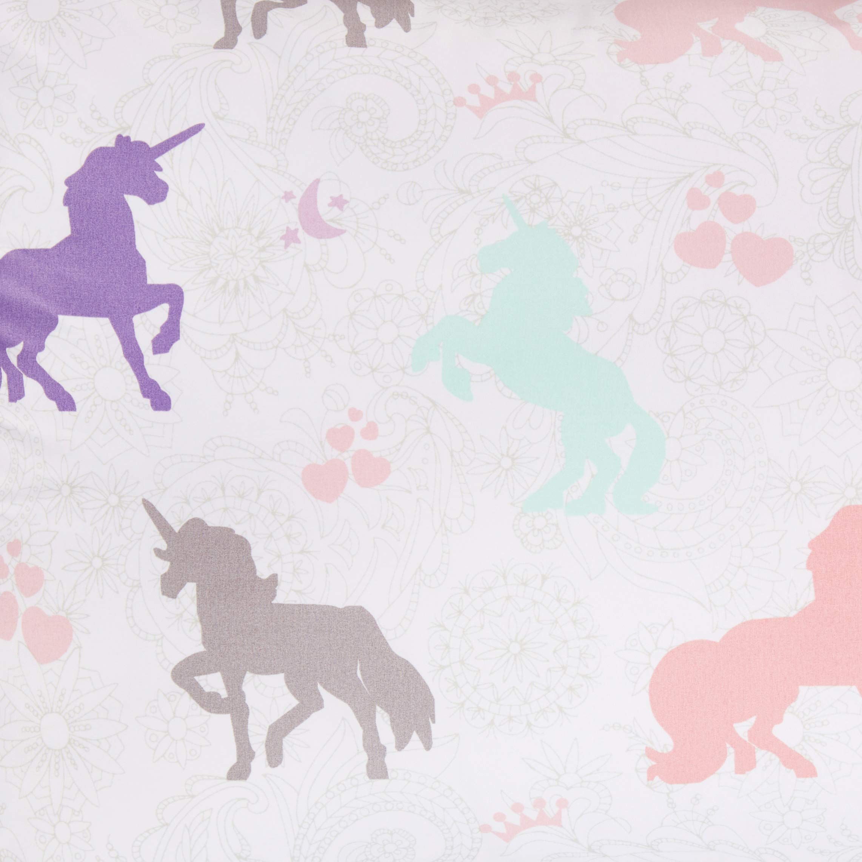 AmazonBasics Kid's Comforter Set - Soft, Easy-Wash Microfiber - Twin, Purple Unicorns by AmazonBasics (Image #2)