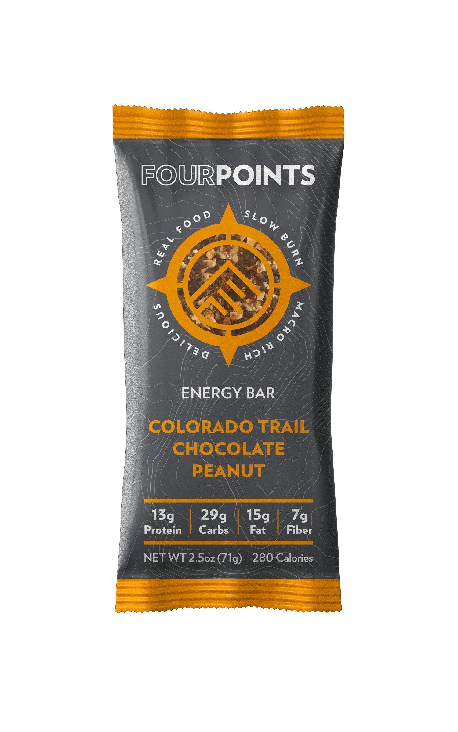 Fourpoints Colorado Trail Chocolate Peanut Bar - Box of 12 - Colorado Trail Chocolate Peanut, Box of 12 by Fourpoints Bar