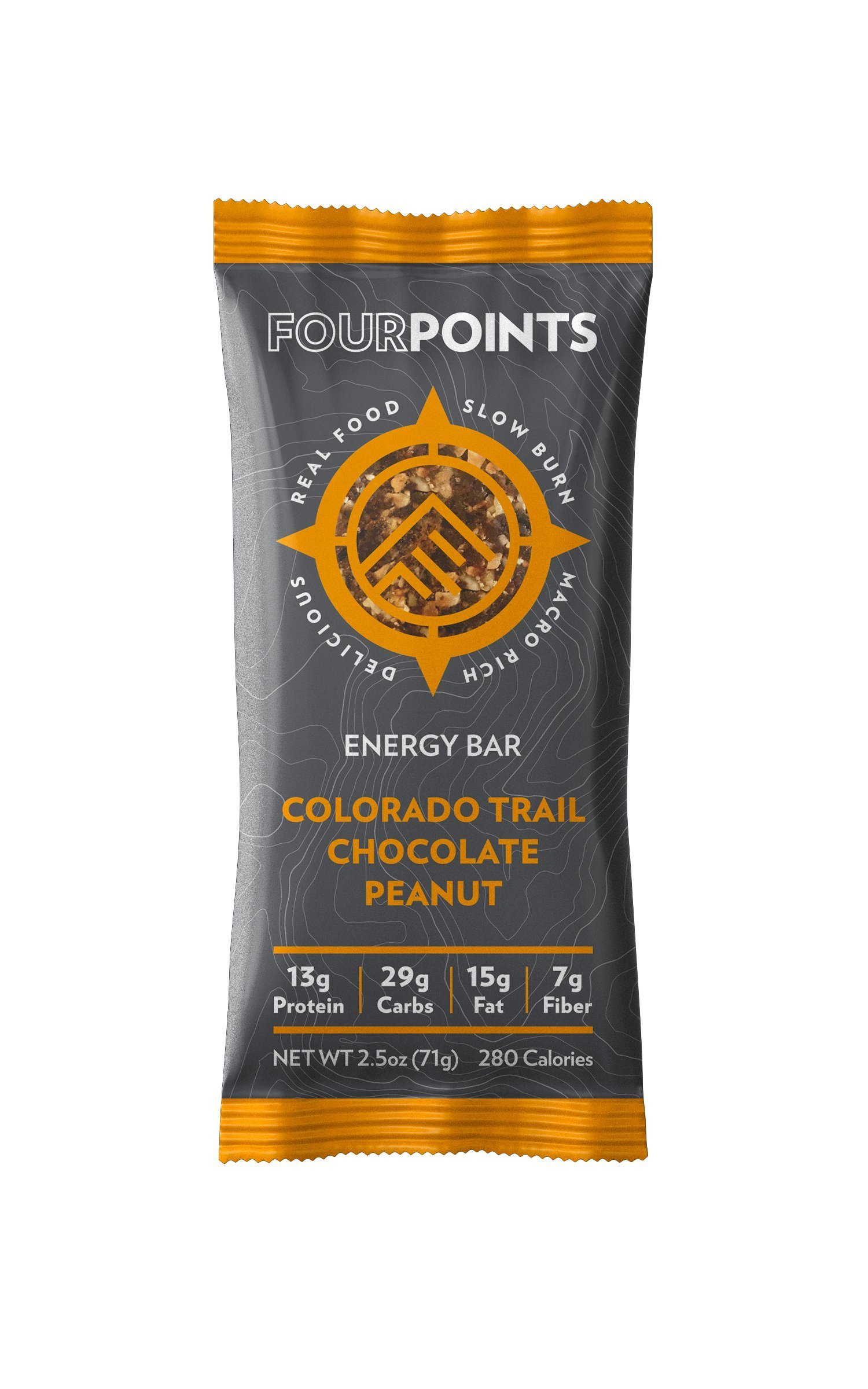 Fourpoints Colorado Trail Chocolate Peanut Bar - Box of 12 - Colorado Trail Chocolate Peanut, Box of 12