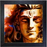 Aadvik Crafts Artworks 'Shiva' Wall Photo Painting for Home and Office Wall Decor (Vinyl, 30 cm x 30 cm x 3 cm)