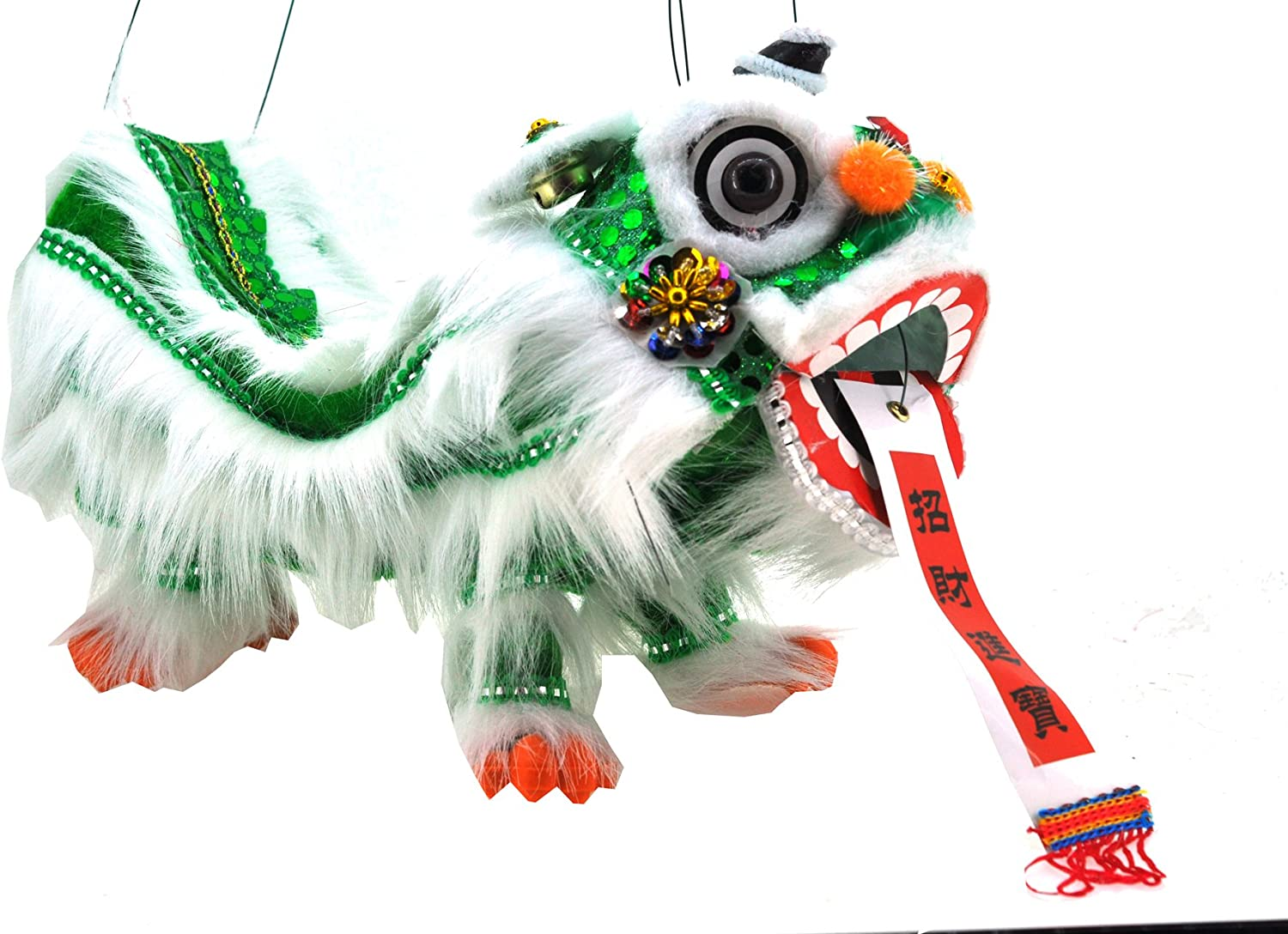 B00WL6VNGQ Mandala Crafts Hand String Puppet with Rod, Chinese Marionette Dragon Lion Toy, Green 81pgjOZ0ZbL