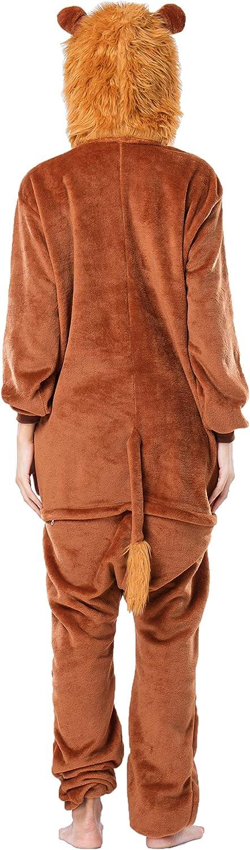 RONGTAI Adults Kids Unisex Animal Flannel Onesie Pajamas Cosplay Costume