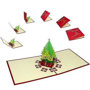 3 tarjetas navideñas Premium con árbol de Navidad en 3D | Juego de ...