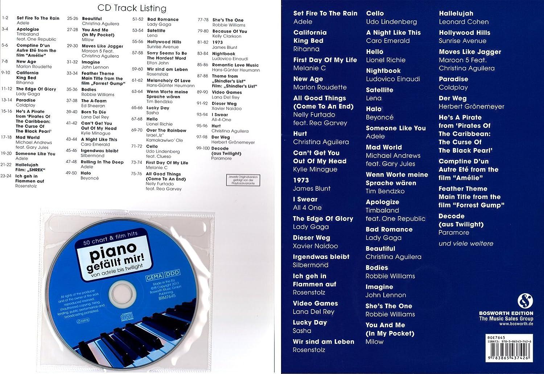 Piano gefällt mir - Bande 1 - SONGBOOK Clavier de jeu pour homme de Piano de Hans Günter foin - umfangreiche, moderne livre avec CD et coloré Cœur Note ...
