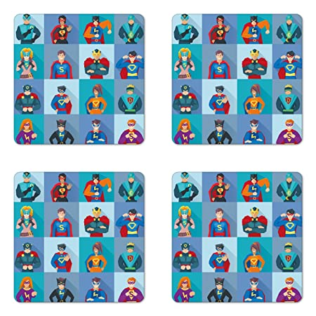Review Lunarable Superhero Coaster Set