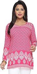 Unifiedclothes Women Fashion Printed Short Indian Kurti Tunic Kurta Top Shirt Dress 142B