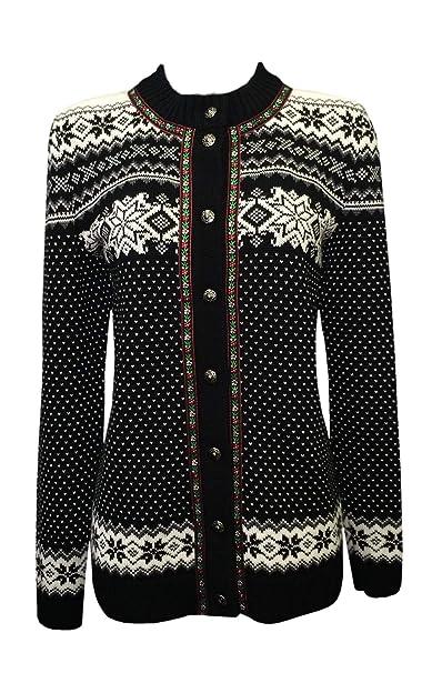 Amazon.com: Noruego (mezcla de lana Merino Knitted Suéter ...
