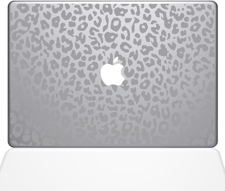 "The Decal Guru 2047-MAC-13A-S Leopard Spots Decal Vinyl Sticker, Silver, 13"" MacBook Air"