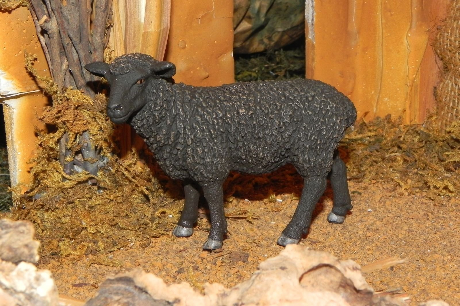 Collectible Figurine Black Sheep Animal 5'' Nativity Scene Figure - USA_Mall