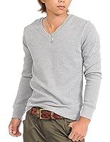 (スペイド) SPADE Tシャツ メンズ 長袖 ロング ロングTシャツ サーマル 無地 Vネック【w145】
