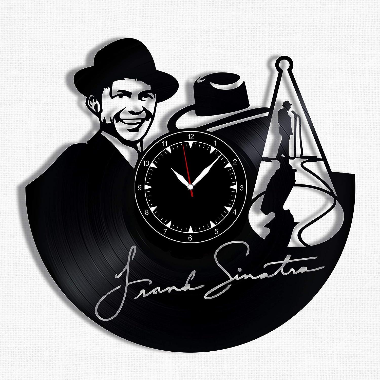 Frank Sinatra Vinyl Record Clock - Wall Clock Frank Sinatra - Best Gift for Jazz Music Lover - Original Wall Home Decor