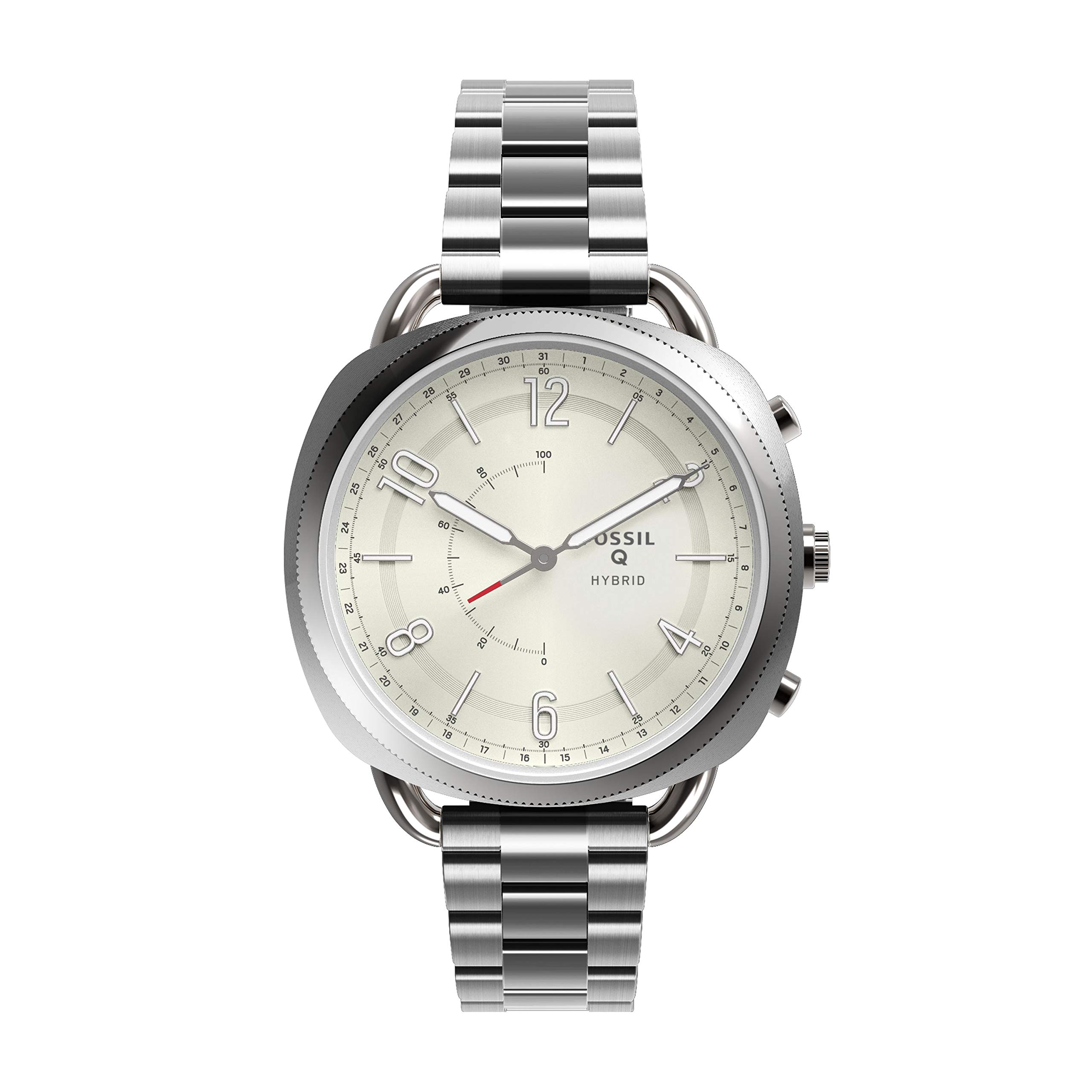 Fossil Women's Accomplice Stainless Steel Hybrid Smartwatch, Color: Silver (Model: FTW1202) by Fossil