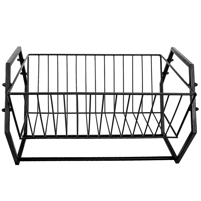 MyGift Hexagonal-Design Copper-Tone Metal Countertop Dish-Drying Rack