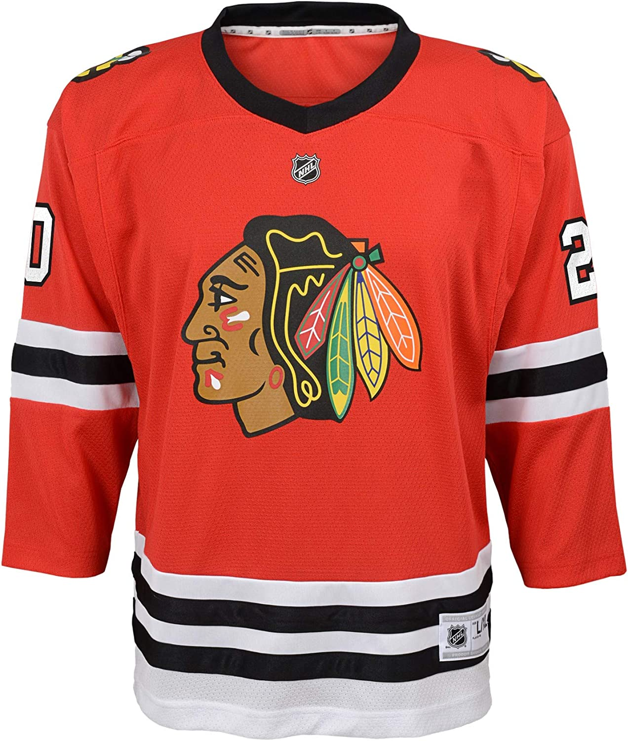 OuterStuff Chicago Blackhawks Brandon Saad #20 Youth NHL Premier Red Home Jersey
