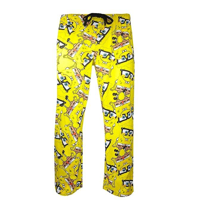 Hombres Bob Esponja Toalla Geek Chic pijamas pantalón, pantalones Confort Bajos