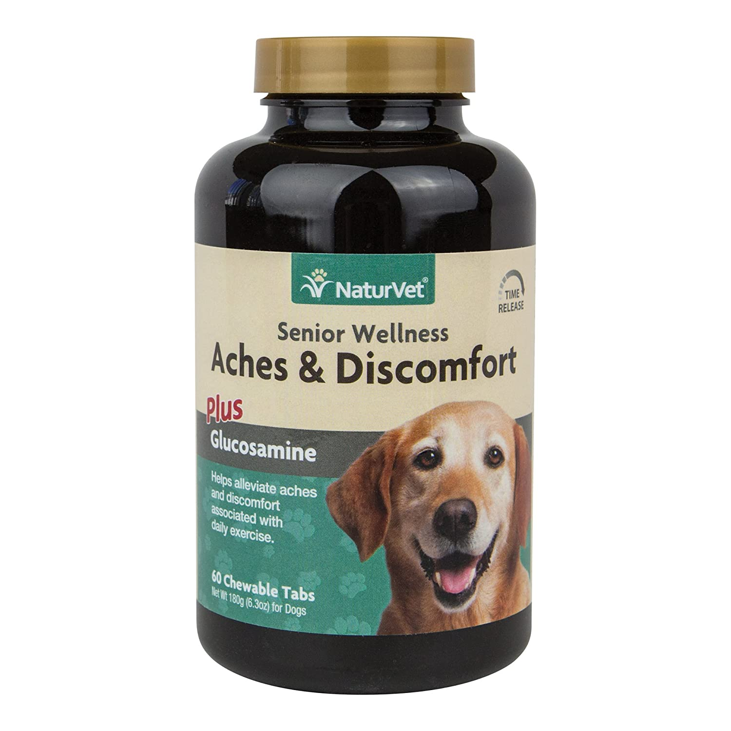 NaturVet 60 Count Senior Aches and Discomfort Tablets for Dogs
