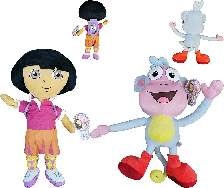 Dora The Explorer - Pack 2 Peluches Dora la Exploradora con ...