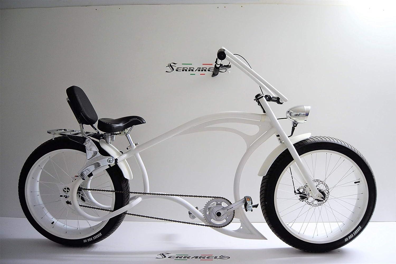 Cicli Ferrareis Bici Chopper Fat Bike 26 Bianco Cruiser Bike ...