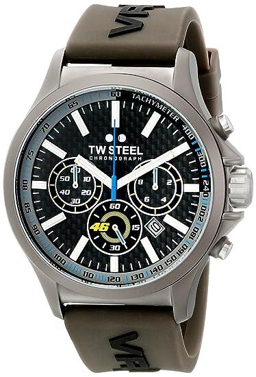 Reloj TW Steel Pilot TW935- Acero 45mm-Yamaha/VR46 - Correa de Silicona
