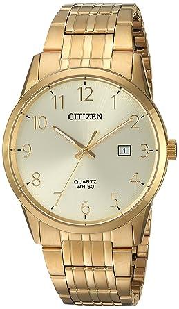 Citizen Men S Quartz Stainless Steel Casual Watch Color Gold Toned Model Bi5002 57q