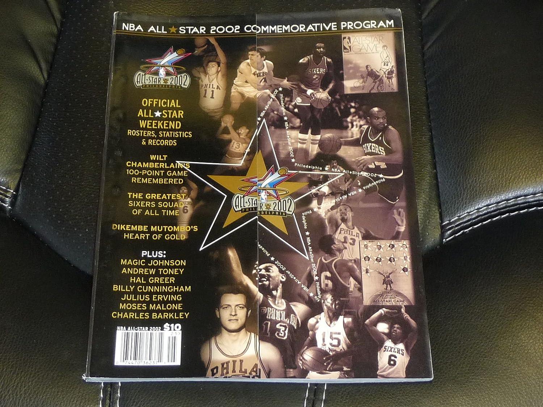 2002 NBA ALL STAR GAME BASKETBALL PROGRAM PHILADELPHIA EX-MINT
