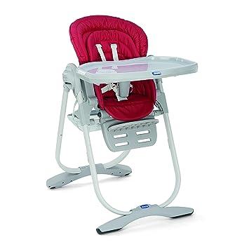 Chicco Polly Magic - Trona compacta para niños de 0 hasta 3 años, 12 kg, color rojo