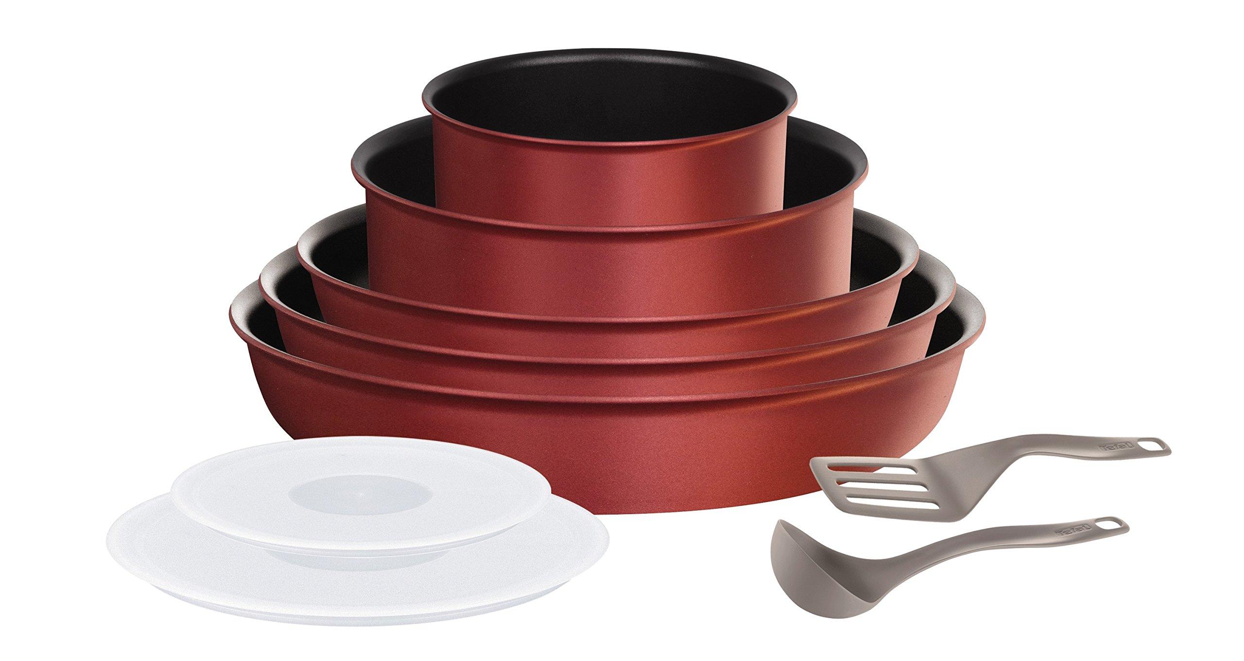 Tefal L6599303 Set de poêles et casseroles - Ingenio 5 Performance Rouge 10 Pièces - Tous feux dont induction product image