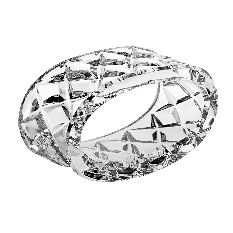 Barski Cut Crystal Napkin Ring Holder, 2.6