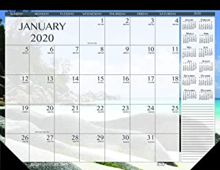 product image for House of Doolittle 2020 Monthly Desk Pad Calendar, Earthscapes Seascapes, 18.5 x 13 Inches, January - December (HOD1386-20)