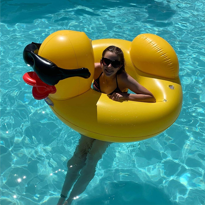 GAME 51301-BB Ring Derby Duck Flotador para Piscina, Grande, Amarillo: Amazon.es: Jardín