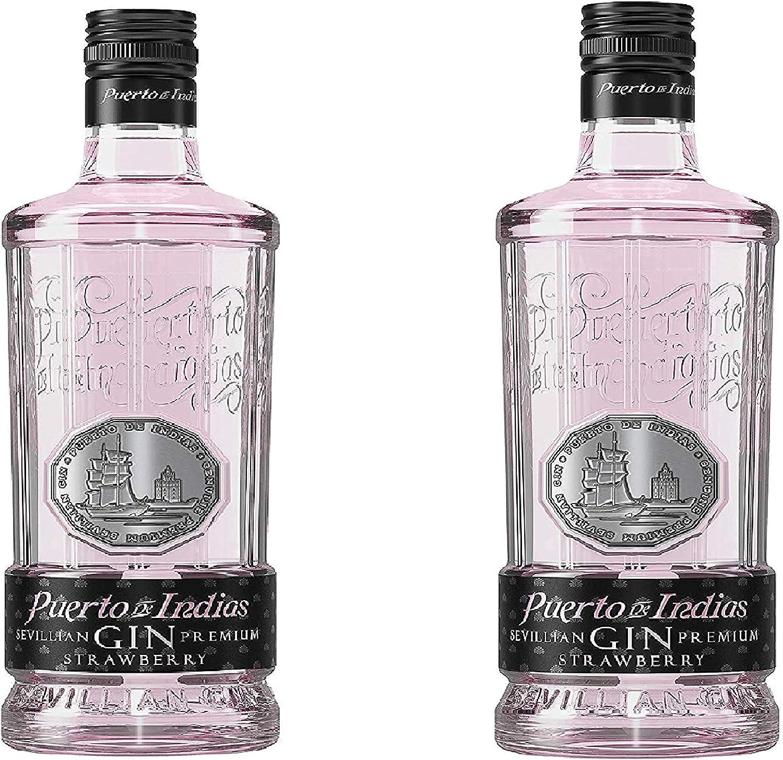 PROMO - Pack 2 botellas Gin Puerto de Indias Strawberry 70 cl ...