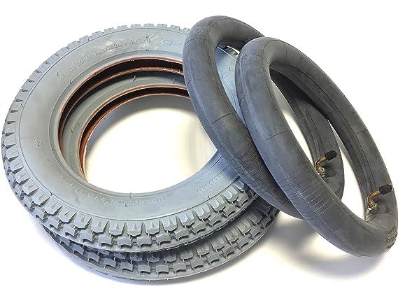 Silla 2 neumáticos 12 1/2 x 2 1/4 (ETRTO 62 - 203) gris, 2 unidades de ángulo de manguera Válvula 90 °/90 °, neumáticos neumáticos profundo: Amazon.es: ...