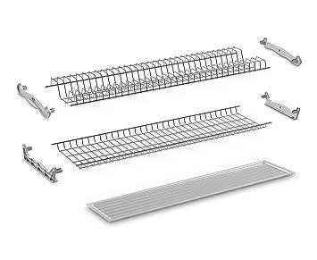 Compagnucci High Tech SRL 051080 GB03 escurreplatos de alambre plastificado para mueble armario de 80 cm, gris