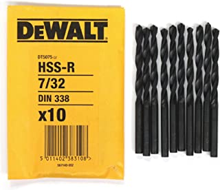 10 DEWALT DT5075 7/32' HSS METAL DRILL BITS. MADE IN GERMANY