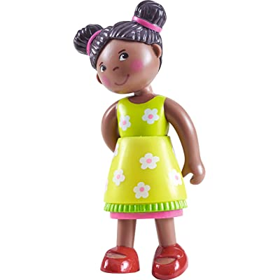 "HABA Little Friends Naomi - 4"" African American Bendy Girl Doll Figure with Pig Tails: Toys & Games"