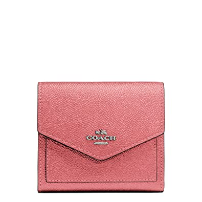 Amazon Com Coach Women S Metallic Small Wallet Sv Glitter Rose