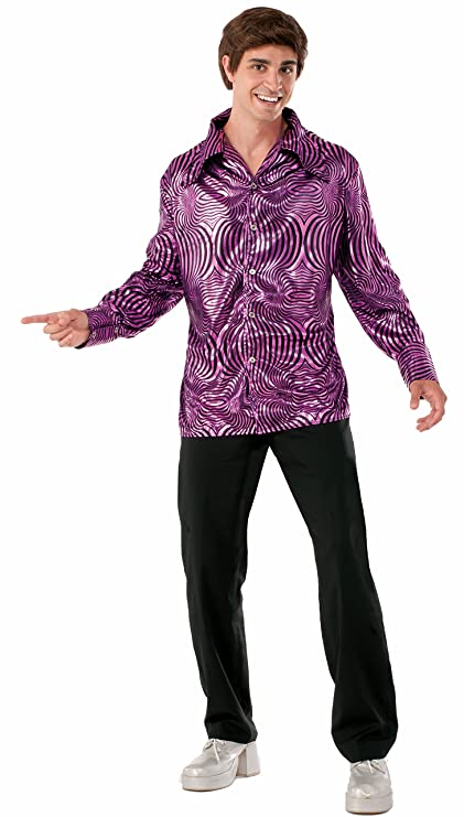 70s Costumes: Disco Costumes, Hippie Outfits Forum Novelties Mens 70s Disco Dynamite Dude Costume Shirt $39.36 AT vintagedancer.com