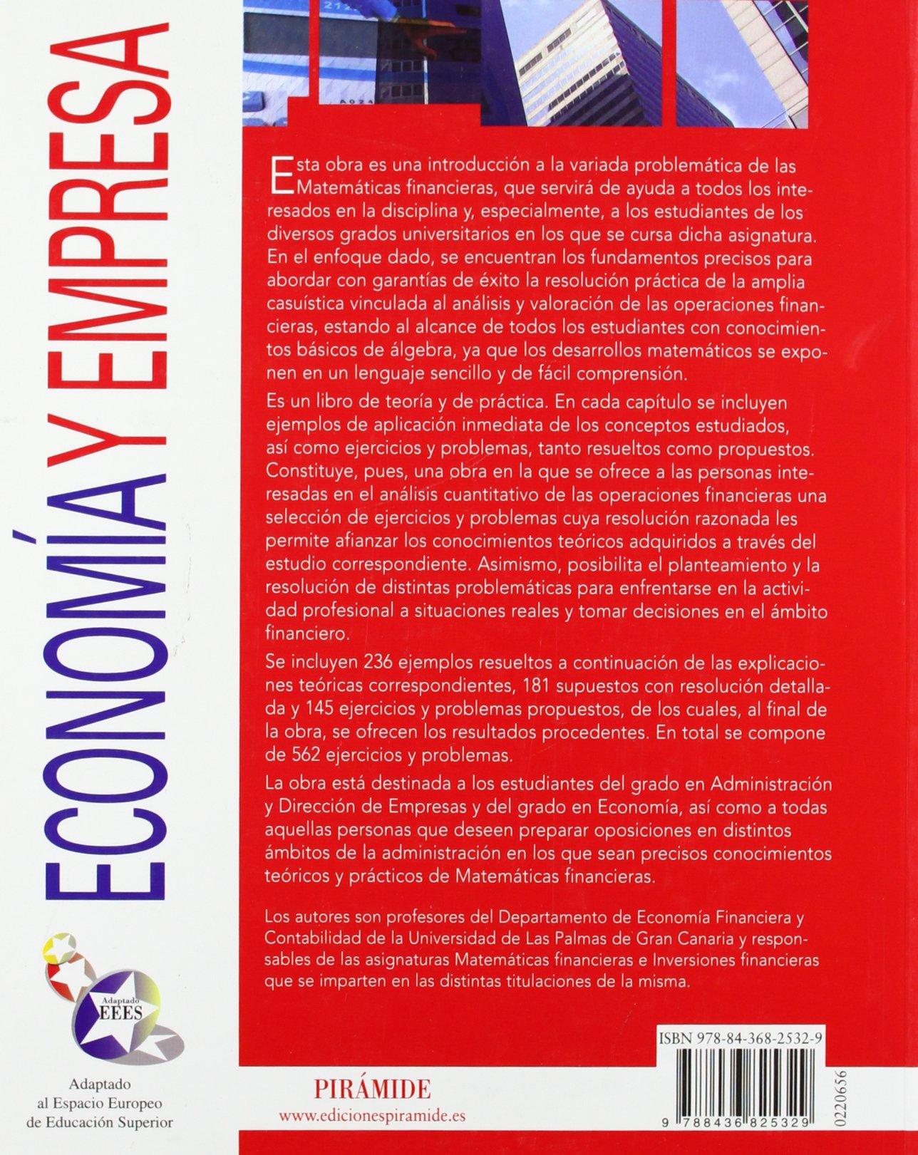 Matemáticas financieras (Economía Y Empresa): Amazon.es: Juan García Boza: Libros