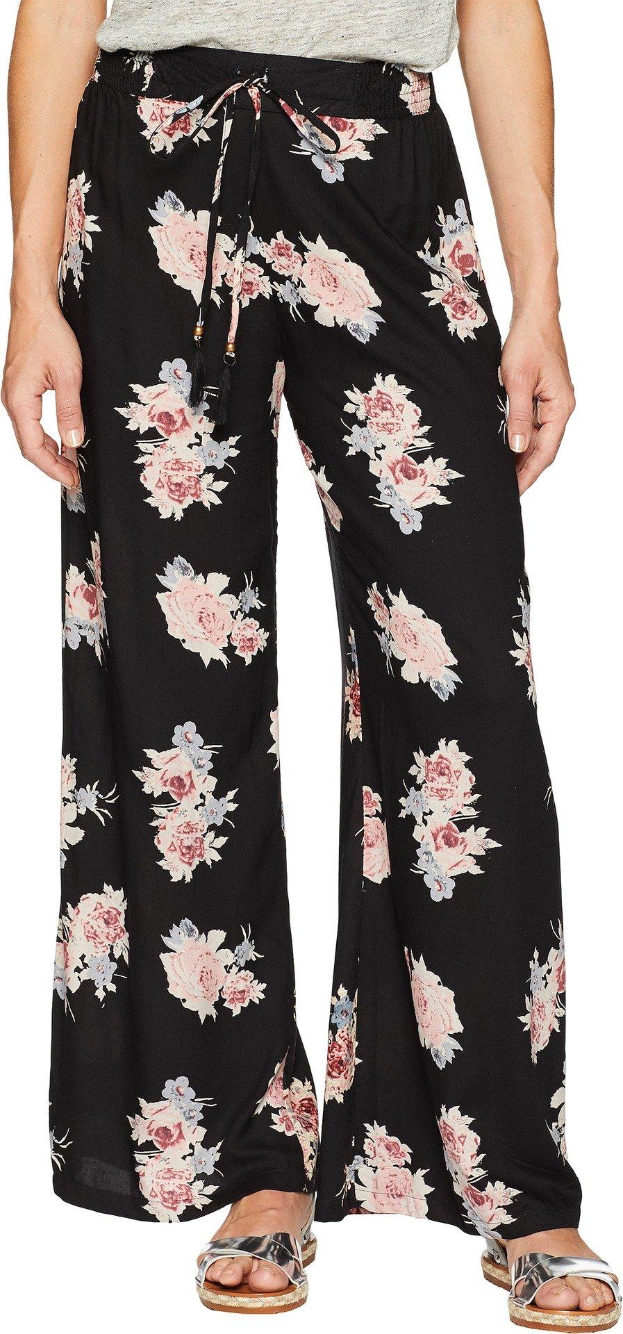 Angie Women's Floral Pants Black Large 30