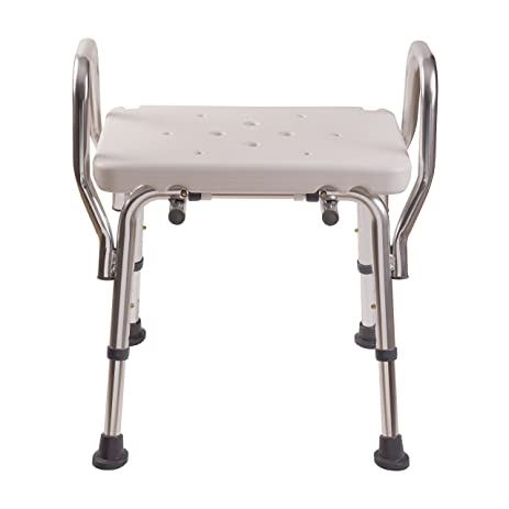 Amazon.com: Duro-Med Bath Chair, Adjustable Shower Chair with Arms ...