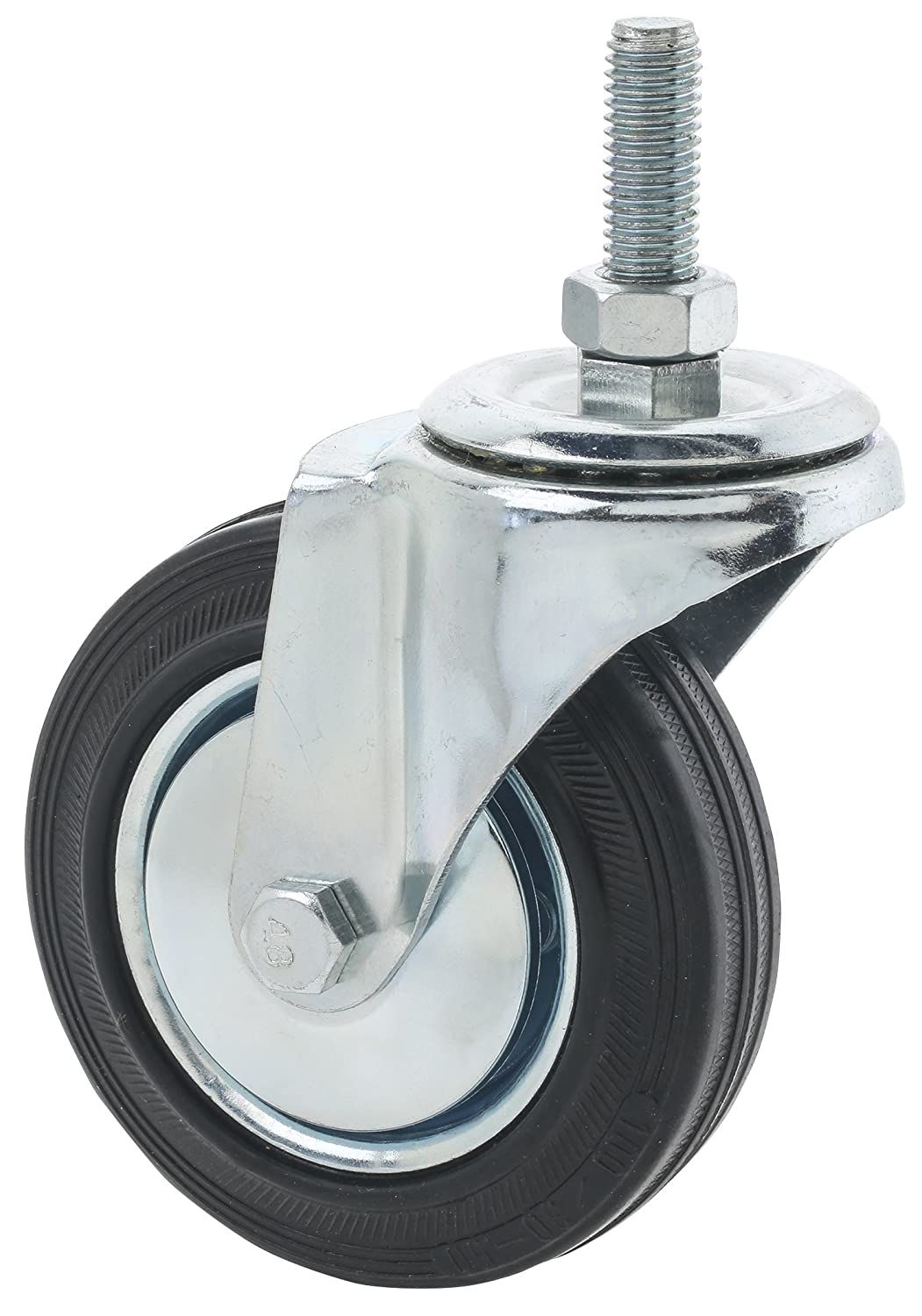 Steelex D2543 Threaded Swivel Industrial Hooded Caster 4 Inch