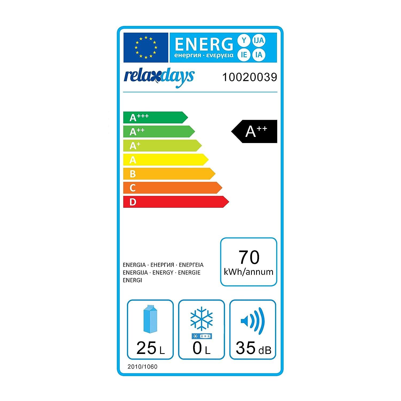 elektrische Warmhaltebox blau Thermotasche 25 l HxBxT: 45 x 45 x 33 cm Relaxdays K/ühlbox f/ür Auto 12V 230V Stecker