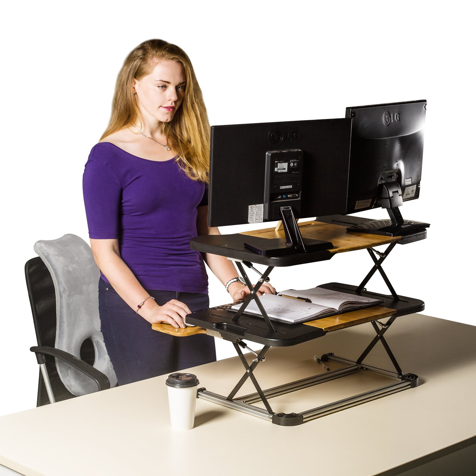 Standing Desk- Omax Heigh Adjustable Desk/Table Comfortable Stand Up Table Removed Computer Laptop Stand Desk Working Table by RXMOO (Image #4)