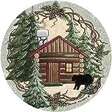 Thirstystone Stoneware Coaster Set, Rustic Cabin