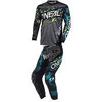 ONeal Mens Element Villain Motocross Jersey /& Pants Combo Grey